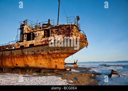 Épave, Lac Baikal, Sibérie, Russie