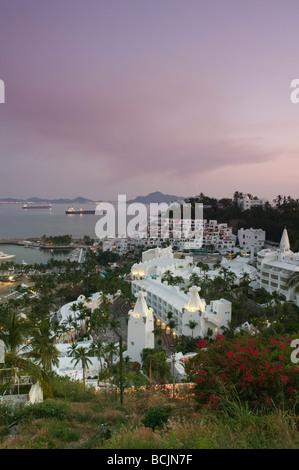 Le Mexique, la côte du Pacifique, Colima, Manzanillo, Brisas Las Hadas Manzanillo et Bay Resort Banque D'Images