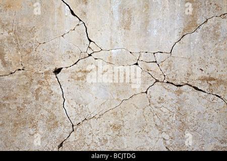 Mur de béton concassé Banque D'Images