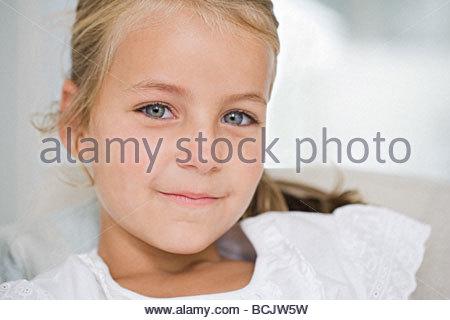 Portrait de petite fille Banque D'Images