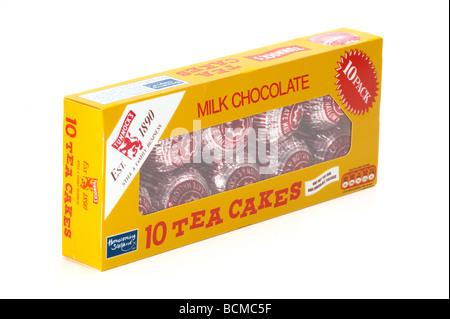 """Lot de 10 boîtes de chocolat au lait """"brioches"""" Banque D'Images"""