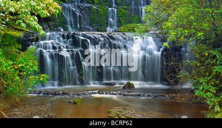 Purakaunui Falls, Catlins, île du Sud, Nouvelle-Zélande