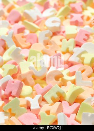 bonbons de l'alphabet Banque D'Images