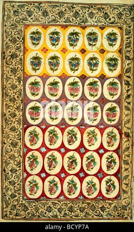Le design textile. L'Inde, 18e siècle Banque D'Images
