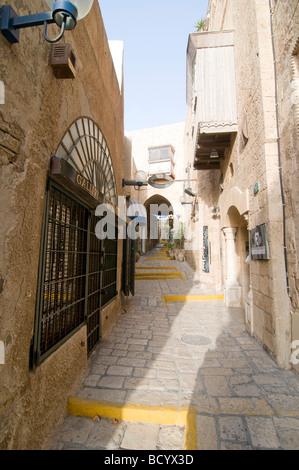 Israël rénové vieille ville de Jaffa maintenant une colonie de l artiste Banque D'Images