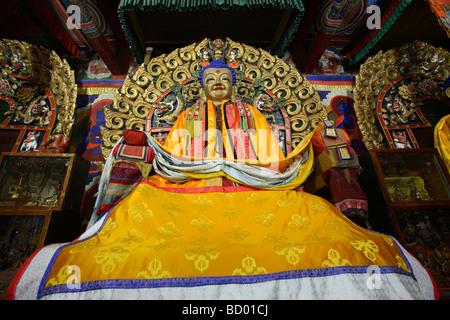 L'intérieur du Bouddha Zuu monastère, Karakorum, Mongolie Banque D'Images