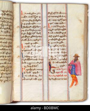Le livre de l'évangile arménien, par Margar Dpir. L'Iran, milieu du 17e siècle Banque D'Images