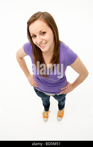 Young Girl standing in Studio Banque D'Images