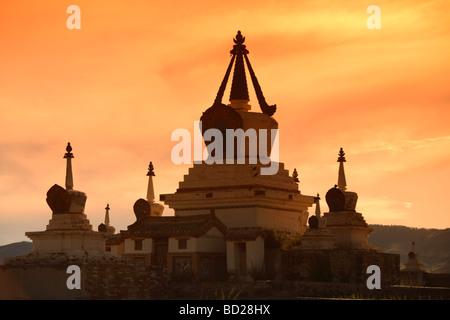 Le stupa central de Erdene Zuu monastère, Karakorum, Mongolie Banque D'Images
