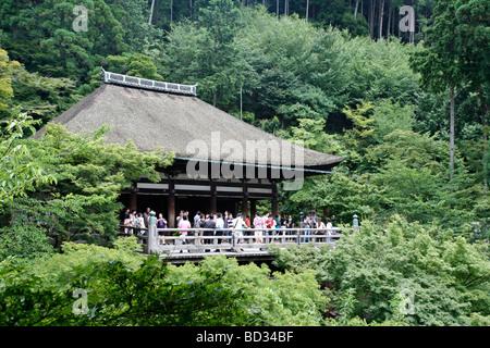 Temple Kiyomizu dera. Le protocole de Kyoto. Kansai. Le Japon Banque D'Images
