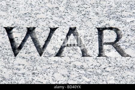 La guerre de mots gravés dans la pierre