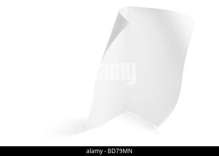 Morceau de papier Banque D'Images