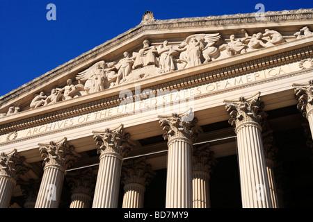 L'architecture classique de l'United States National Archives building à Washington, DC.