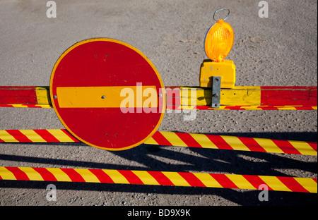 Travaux routiers à témoin site plus de trafic finlandais ( pas d'entrée )