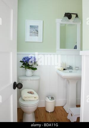 Salle de bains home intérieur Banque D'Images