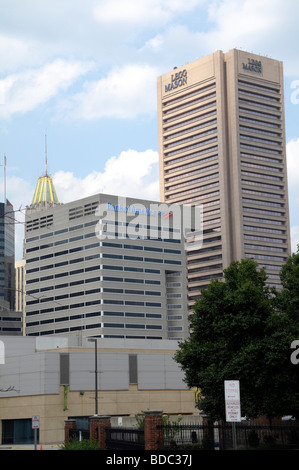 Bank of America et Legg Mason building à Baltimore, Maryland Banque D'Images