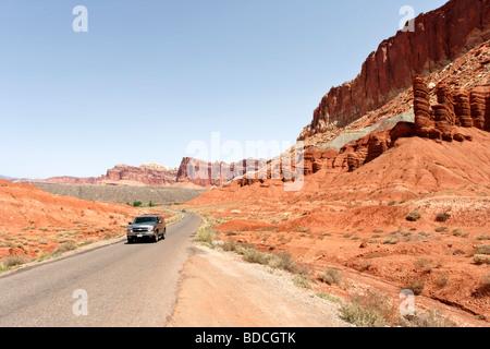 Scenic Drive dans Capitol Reef National Park Utah USA Banque D'Images