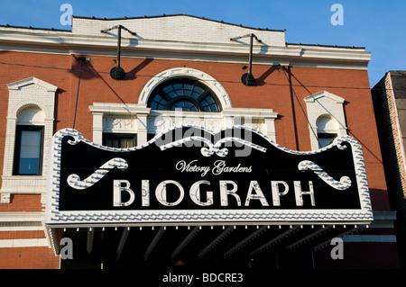 La Biograph Theatre, l'endroit où John Dillinger braqueur de banque a été abattu par le FBI, dirigé par Melvin Purvis, Banque D'Images
