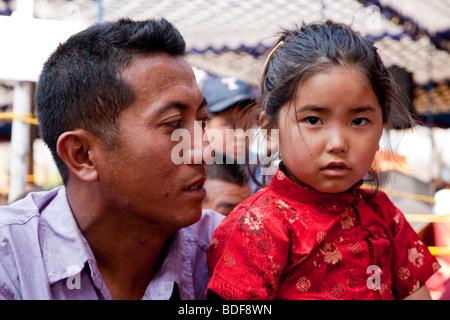 Les réfugiés tibétains en Inde Karnataka State Bylakuppe Banque D'Images