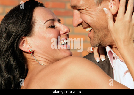 Joli couple heureux Banque D'Images