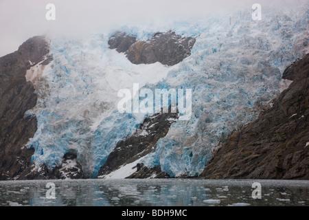 Glacier Nord-ouest, nord-ouest de Fjord, Kenai Fjords National Park, Alaska. Banque D'Images