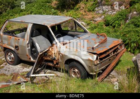 Voiture abandonnée de rouille, rouille, vieille, métal, véhicule, vintage, rouillé, le transport, l'automobile, Banque D'Images