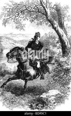 S'échapper de Benedict Arnold, 1780 (c1880). Artiste: Inconnu