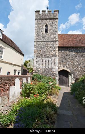 St Peters Church Canterbury Kent en Angleterre Banque D'Images