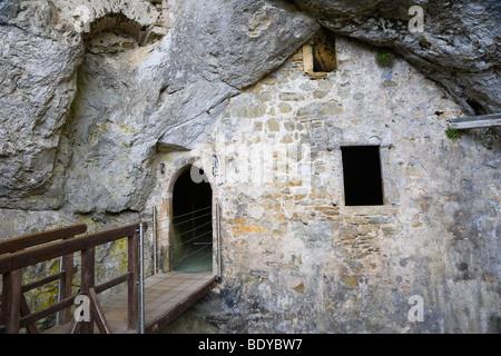 Intérieur du château de Predjama, predjamski grad, près de Postojna, inner carniola, Slovénie, Europe Banque D'Images