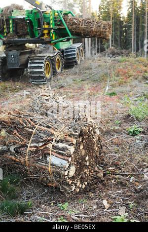 Ensemble barre oblique utilisée pour la biomasse comme combustible Banque D'Images