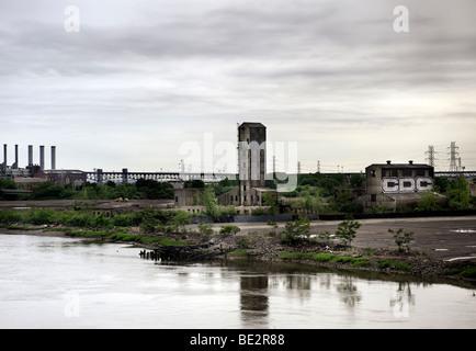 La dégradation du milieu urbain au New Jersey Banque D'Images