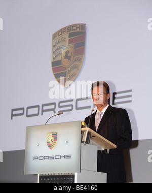 63ème International Motor Show (IAA): Michael Macht, président-directeur général de la Porsche SE.
