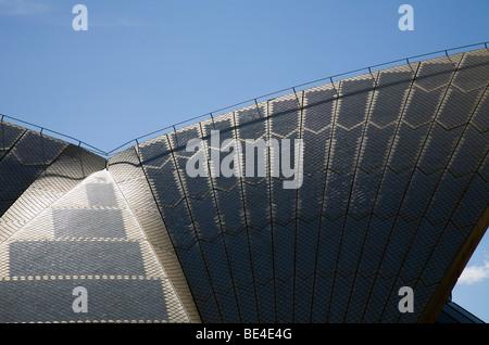 Détail du toit de l'Opéra de Sydney. Sydney, New South Wales, Australia Banque D'Images
