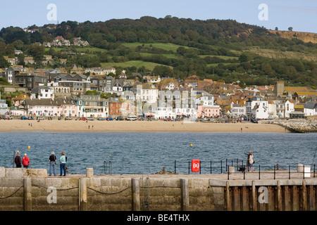 Lyme Regis Dorset Angleterre au Cobb Banque D'Images