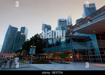 Marina, Singapour, quartier central des affaires de Singapour, Singapour, l'Asie