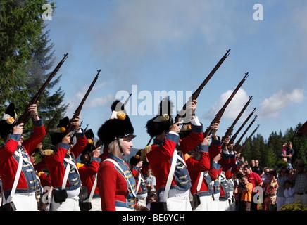 Shooters de Saint Michel, à la prise de Samson Parade, au Mt Katschberg, Lungau, l'état de Salzbourg, Salzbourg, Autriche, Europe