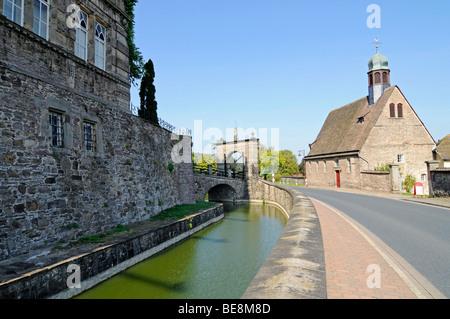 Chapelle, Haemelschenburg, château Renaissance de la Weser, Bad Pyrmont, Hameln, Emmerthal, Basse-Saxe, Allemagne, Europe
