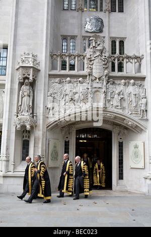 Cour suprême du Royaume-Uni en dehors de juges Middlesex Guildhall. Banque D'Images