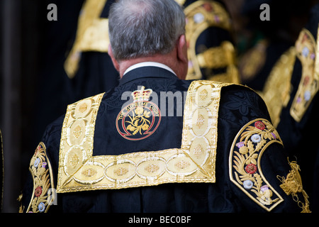 La Cour suprême du Royaume-Uni robe de justice logo emblème Banque D'Images