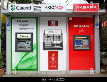 Istanbul Turquie bank paiement carte de crédit garanti machine Akbank HSB
