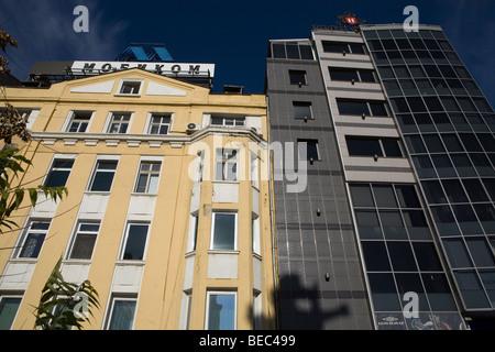 Sofia, capitale de la Bulgarie, les détails architecturaux de la première moitié du 20e siècle Banque D'Images