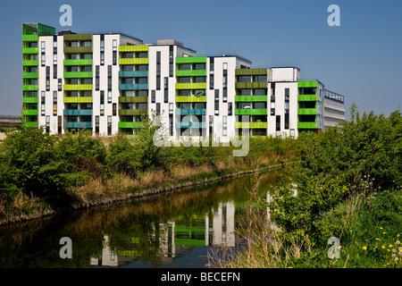 Bloc de grande hauteur colorés, Copenhague, Danemark Banque D'Images