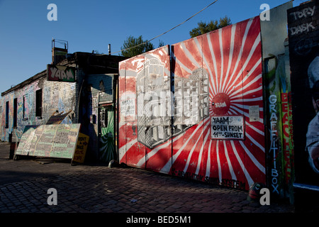 Berlin - Début de l'East Side Gallery Banque D'Images