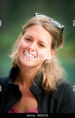 Portrait de jeune fille de Hollande Banque D'Images