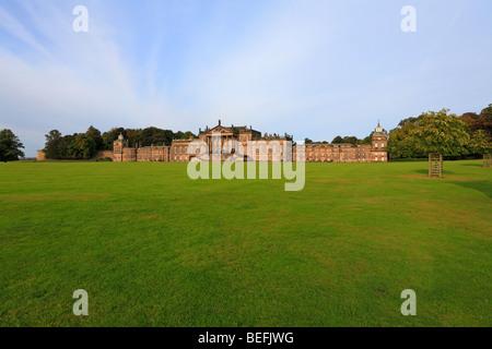 Façade de l'Est de Wentworth Woodhouse, Wentworth, Rotherham, South Yorkshire, Angleterre, Royaume-Uni. Banque D'Images
