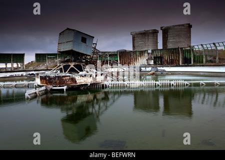 Hartlepool, Tees Valley, de l'épave de la magnésite Works Banque D'Images