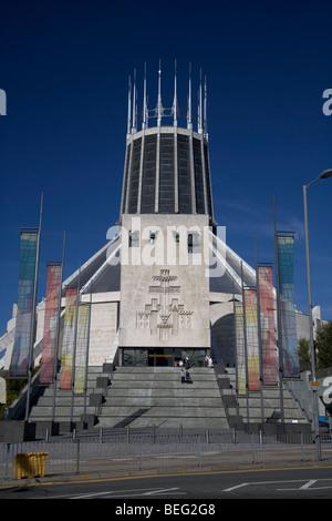 Liverpools metropolitan cathédrale catholique du Christ roi Merseyside England uk Banque D'Images