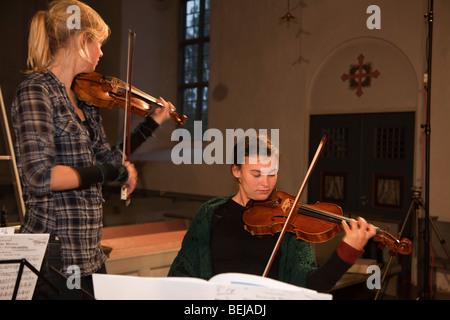 L'orchestre de chambre les Violons musique Trondheimsolistene Banque D'Images