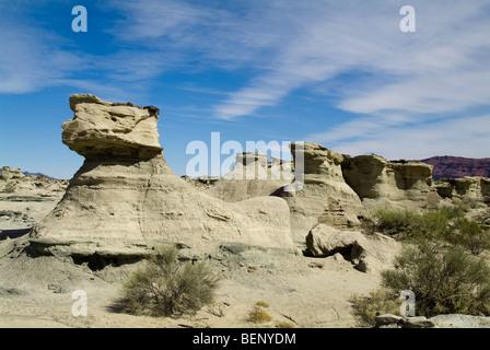 Le Sphinx, parc régional d'Ischigualasto, Valle de la luna - Vallée de la lune, la Province de San Juan, Argentine Banque D'Images