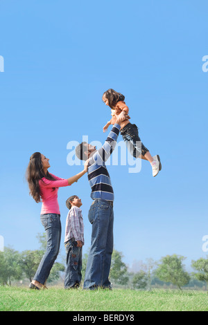 Family having fun Banque D'Images